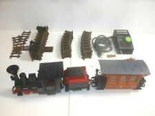 FALLER HIT TRAIN - MEGA LOT DAMPFLOK MIT TENDER + WAGGON + MESSINGGLEISE + TRAFO