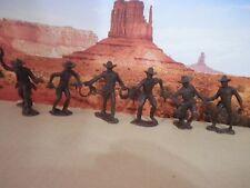 Cowboys Pistoleros Soldatini Figurini Vintage MARX serie completa