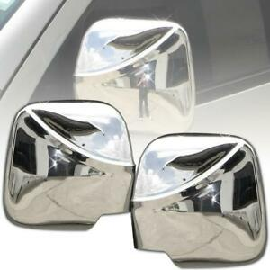 Side Wing Mirror Manual Cover Chrome Trim For Toyota Hiace Commuter 2005-2013