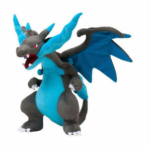Dragon Mega Charizard X Plush Doll Toy Blue 10 inch Xmas Gift