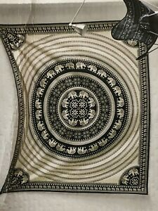 NEW Wall Mandala Tapestry Hanging  Hippie Decor Bohemian Beige/black Throw