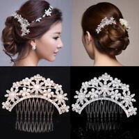 Bridal Hair Comb Pearl Crystal Headpiece Wedding Hair Pin Hair Accessories Decor