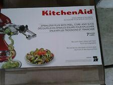 used kitchen aid stand mixer attachment spiralizer plus 7 blades