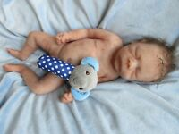 FULL Body SOLID SILICONE Baby BOY Doll   -  ECOFLEX 20 -  Preemie