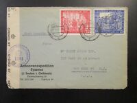 Germany 1947 Cesnor Cover to USA / Small Edge Tears - Z6557