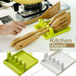 Kitchen Heat Resistant Spoon Rest Cooking Utensil Spatula Holder Tool Home Decor