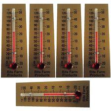 5 Pack Rite Farm Products Glass Temperature Thermometer Egg Incubators Chickens