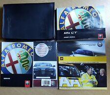 GENUINE ALFA ROMEO GT HANDBOOK OWNERS MANUAL WALLET 2003-2010 PACK D-37