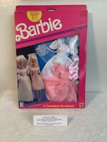 Rare Vintage Barbie MIB Fantasy Fashions 1989-2Complete Doll Outfits Mattel 8242