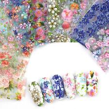 10pcs Nail Foil Stickers Set For Nails Flowers Art Film Floral Nail Manicures S8