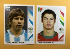 LIONEL MESSI-RONALDO 2006 Panini  Rookie Sticker World Cup Germany TWO CARDS LOT