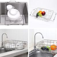 Kitchen Drying Dish Drainer Rack Sink Utensil Holder Organizer Stainless Steel