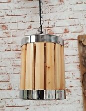 Lampe Industrielampe Retro Vintage Holz Hängeleuchte shabby Pendelleuchte Ø 15