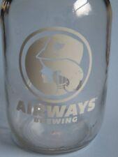 64oz BEER GROWLER ~ AIRWAYS Brewing Co ~ Kent, WASHINGTON ~ Airline Stewardess