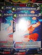 DRAGON BALL SUPER PLAYSET (X4) SON GOKU SSGSS LA HARGNE DEBORDANTE BT1-032 UC
