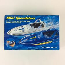 Sharper Image Mini Speedsters Remote Control Power Boats Boxed Set