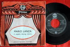 """MARIO LANZA BECAUSE 1960's RARE UNIQUE EXYU 7"""" PS EP"""