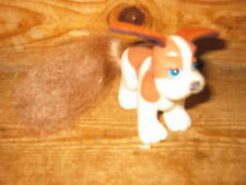 1997 FAKIES MY LITTLE PONY FRIENDS DOG WHITE BROWN SOFT FABRIC EARS HEAD MOVE' S
