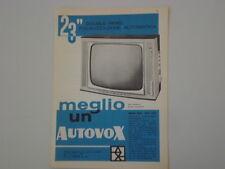 advertising Pubblicità 1961 TELEVISORE AUTOVOX MOD. 891