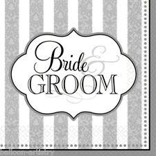 36 mariée et le marié mariage 3ply serviettes jetables 33 cm