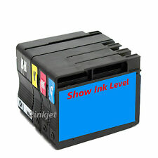 *4pk 932XL 933XL Compatible Ink Set For OfficeJet 7110 7610 7612 SHOW INK LEVEL