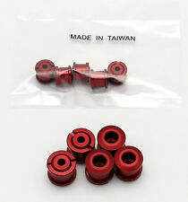 BIKE ALUMINUM DOUBLE CHAIN CHAINRING CRANK NUTS BOLTS SCREWS 5 PAIRS - RED