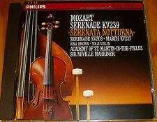 Mozart Serenade 203 239 Marriner PHILIPS W.GERMANY PDO 1ST ED FULL SILVER