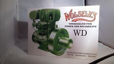 Vintage Wolseley WD stationary engine display board. Rally sign. Show board.