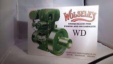 Vintage Wolseley WD tabla indicadora de motor estacionario. Rally signo. show Junta.