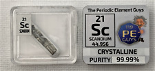 Scandium Pure Rare Earth Metal Crystal 99.99% 0.25 Grams under Argon in Ampoule