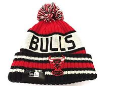 Chicago Bulls Authentic New Era NBA Jacoby Beanie Knit Skull Winter Pom Cap Hat