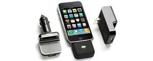 Griffin PowerDuo Reserve Wall and Car Charger Plus Backup Battery iPod or iPhone