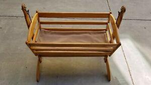 Baby Rocking Cradle Bassinet Newborn Rocker Crib Nursery Infant Wood Furniture