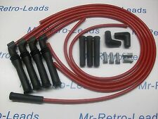 RED 8MM IGNITION LEAD KIT PEUGEOT 309 405 1.9 MI16 16V BX19 CITROEN 16V RACING.