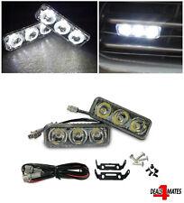 """3.5"""" Set 3 LED Super White High Power Car DRL Daytime Running Lights Fog Lamps"""