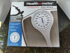 Health O Meter Oversized Dial Scale Stainless Steel Platform Nib Doctors Scale