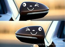 Hot Creative lovely smiling face car stickers funny stickers rearview mirror
