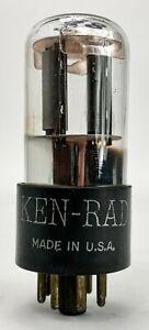 Ken-Rad 6SL7GT Smooth Black Plate Bottom Foil D Getter Balanced Vacuum Tube