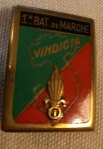 Insigne légion étrangère 1 REI 1er bataillon de marche Vindincta Drago O Metra