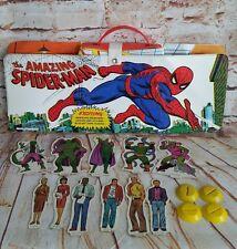 Vintage 1973 Ideal Marvel Comics Amazing Spiderman Play Set 8648-8  HTF! L@@K!