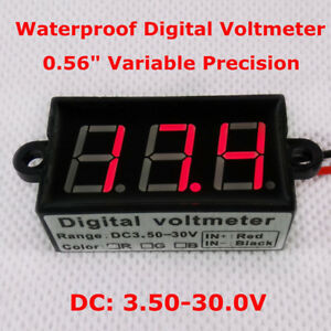"Mini 0.56""Red LED Display Digital Voltmeter DC3.50-30.0V Car Voltage Panel Meter"