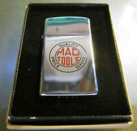 Vintage NEW IN BOX MAC TOOLS slim Zippo Lighter MINT NEW IN BOX W/ PAPERS