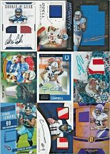 LOT 27 NFL Football Panini Brand Game Jersey Relic RPA Rookie Patch AUTO RC /49