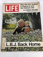Vintage Life Magazine L B J Back Home Vietnam War May 21 1971