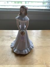 Vtg Porcelain Growing Up Girl Figurine Collectible Age 16 Sixteen Vtg 1982