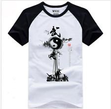 Unisex Taoist Buddhism Kung Fu Tai Chi Wushu Yin Yang Bagua T-shirt