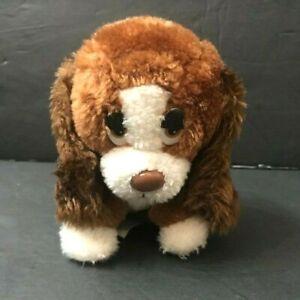 "Basset Hound Plush 6"" Stuffed Animal Baxter Puppy Dog Brown White Russ Berrie"