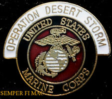 US MARINES OPERATION DESERT STORM LAPEL HAT PIN UP USMC VETERAN MCAS GIFT WOW