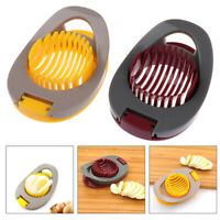Egg Slicers 3 In 1 Egg Cutter Splitter Section Dividers Tool Kitchen Gadg GwJCAU