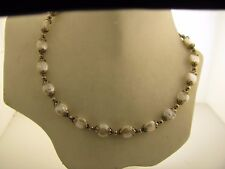 925 Sterling Silver & Cultured Pearls Necklace 15""